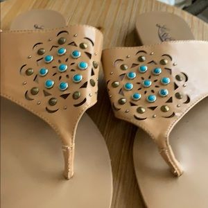 Lucky brand sandals with turquoise stones 8